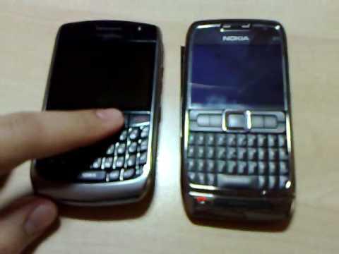 Nokia e71 vs. Blackberry Curve 8900 - awesome blossom