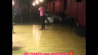 Mz. Cash performs stand up comedy in South Philly at a Pre-Mother's Day Comedy Show
