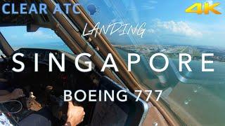 SINGAPORE   BOEING 777 LANDING 4K