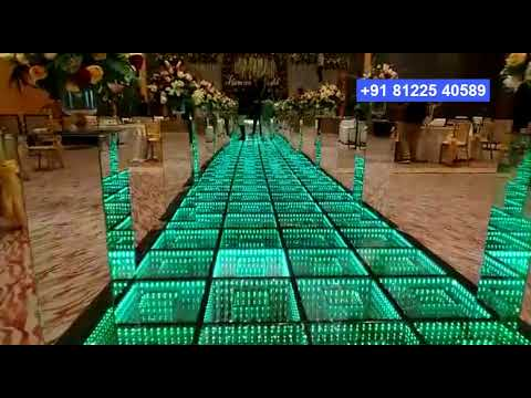 3D #LED #Floor Digital Wedding Marriage Decoration Chennai, Bangalore +91 81225 40589