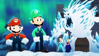 Mario Bros. vs. Frozen Sisters - ANIMEME RAP BATTLES