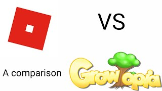 Growtopia VS Roblox - A comparison video