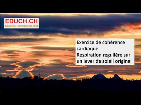 Hypnose - Autohypnose en cohérence cardiaque devant un magnifique lever de soleil en Suisse :-)