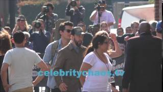 Singer John Mayer arriving to Jimmy Kimmel live