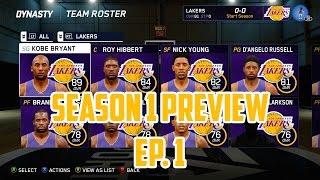 NBA Live 16 Lakers Dynasty Mode - Intro [Ep.1] (Season 1)