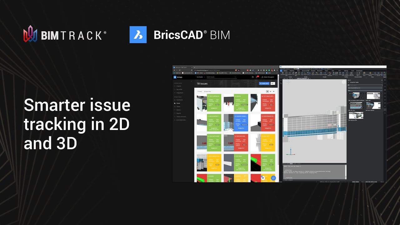 BIM Track and BricsCAD® BIM integration: Smarter issue tracking in 2D and 3D