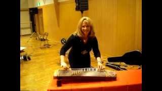 Lori attempting to play SAKURA on the koto (Japan 2012)