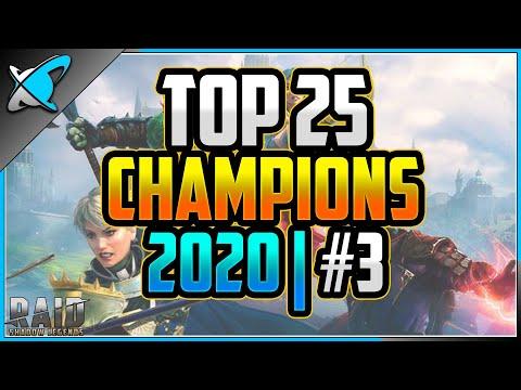 TOP 25 CHAMPIONS | 2020 (#3) | Has the Meta Changed !? | RAID: Shadow Legends