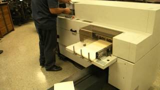 Video of Bourg BBF 2005 Perfect Binder in Manual Operation