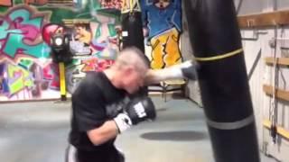 Joel Brunker on the bag