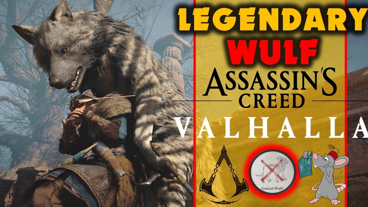 Jade PG - Assassins Creed Valhalla Legendary Hunt - GEMAD WULF Is A OP Doggo! Legendary Creature Guide!