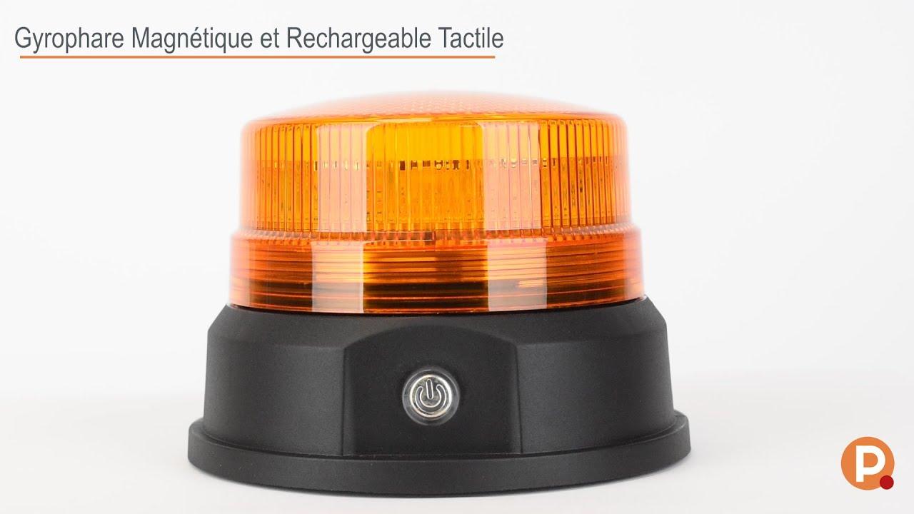 Gyrophare à LED magnétique rechargeable et tactile.