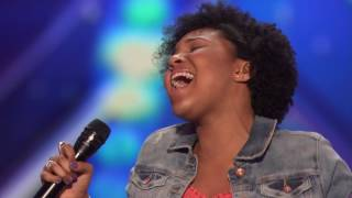 "Jayna Brown׃ 14 Year Old Slays With Her Cover of ""Summertime""   America's Got Talent 2016 Auditions"