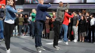 West Side Story Flash Mob - New York City Times Square November 2011 (HD)