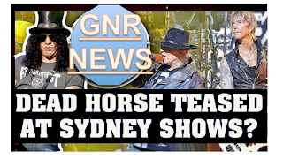 Guns N' Roses News: Dead Horse To Be Played In Sydney? Angus Young Greets Guns N' Roses in Sydney
