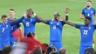 Le Clapping de l'équipe de France après la victoire ● Allemagne vs France ● Euro 2016