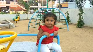 lovely one year baby playing in baby park, My first YouTube video