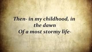 """Read Aloud (Poem): """"Alone"""" by Edgar Allan Poe"""