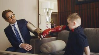Iron Man, Iron Boy: New Arm Prosthetic From Robert Downey Jr.