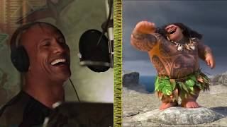 The Rock sing Moana song you're welcome (backstage)