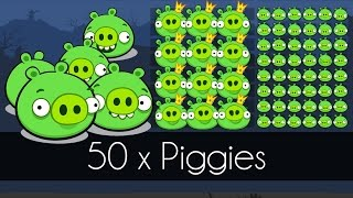 Bad Piggies - 50 x PIGGIES (Field of Dreams)