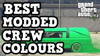 """GTA 5 - *BEST* """"Modded Crew Colours"""" Feat. Jelly Green, Glowing Yellow, Neon Blue and More!"""