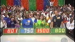 The Price Is Right, January 1999. Taped In November 1998.