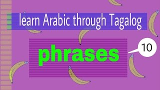 Learn Arabic through Tagalog