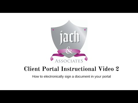 How to electronically sign a document in the portal