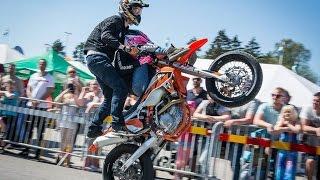 Bikedagarna 2016 | SUPERMOTO STUNTS | Elliot Gröndahl & Saaraazh | KTM 450 EXC & Freeride E