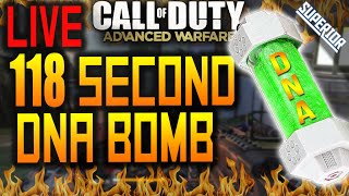 "AW: MY FASTEST ""DNA BOMB!"" -  LIVE 118 SECOND DNA! (LIVE Call of Duty Gameplay/Commentary)"