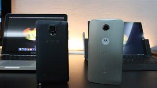 مقارنة بين جهاز Motoroloa Google Nexus 6 Vs Samsung Galaxy Note 4