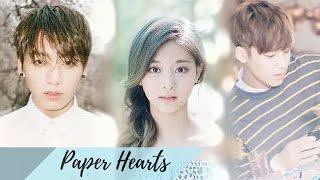 BTS Jungkook x Twice Tzuyu (feat. Seventeen Mingyu)| ♡PAPER HEARTS♡ (FMV)