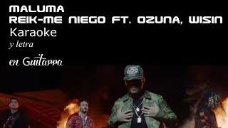 Reik - Me Niego ft. Ozuna, Wisin Karaoke y letra en guitarra