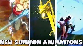 NEW SUMMON ANIMATIONS! Bardock, SSJ3 Goku, & Trunks!   Dragon Ball Legends