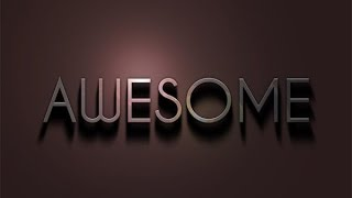 AWESOME 3D Text Effect in Photoshop CS5 - Photoshop Text Effects