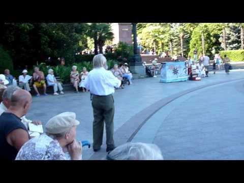 Senior citizens dance in front of statue of Lenin – # 1, Yalta, Crimea