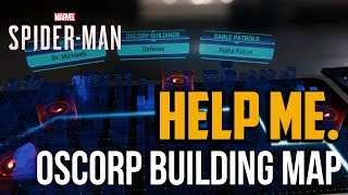 Spiderman PS4 : How to Solve Oscorp Buildings Hologram Map Puzzle