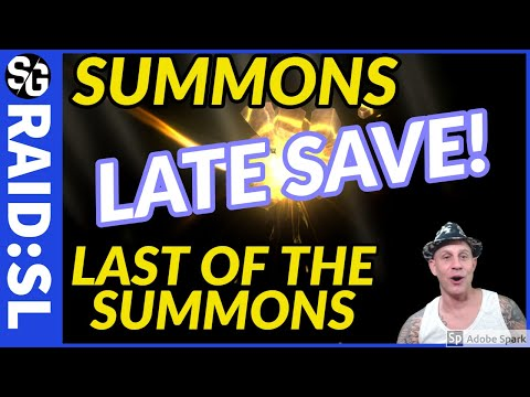 RAID SHADOW LEGENDS | SUMMONS LATE SAVE | YEET!