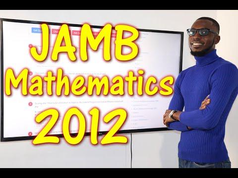 JAMB CBT Mathematics 2012 Past Questions 1 - 16