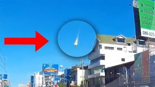 Meteorito que cae en Tailandia visto desde 2 videos