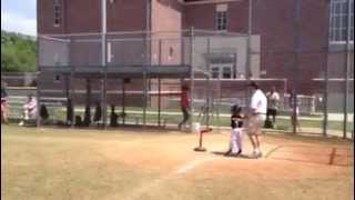 Connor big t-ball hit