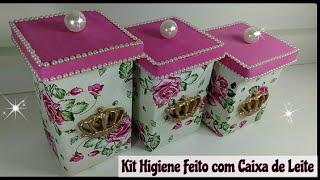 Kit Higiene Feito com Caixa de Leite 💗