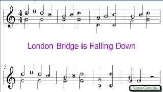 London Bridge is Falling Down - Nursery Rhymes Easy Sheet Music