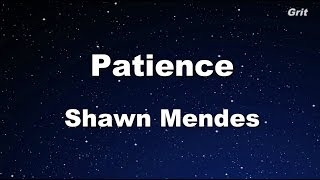 Patience - Shawn Mendes Karaoke 【No Guide Melody】 Instrumental