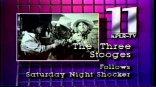 Saturday Night Shocker - Vintage Horror Outro - St. Louis - KPLR-TV Channel 11 + 3 Stooges Intro