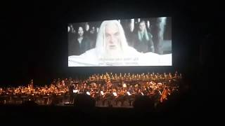 Lord of the Rings: Two Towers Live Concert Gandalf In Edoras Scene