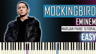 How To Play: Eminem - Mockingbird | Piano Tutorial EASY + Sheets
