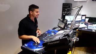 Turntable performance by DJ LS at WMXR-LP Miami