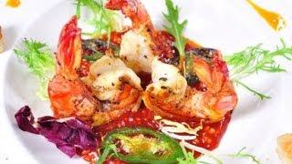กุ้งย่างซอสแม็กซีโคเรีย Grilled Shrimp Mexi-Korean